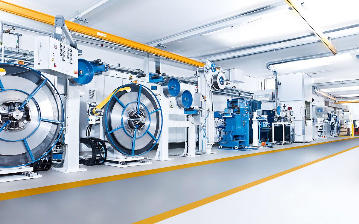 Eberle hochmoderne industrielle Fertigung in Augsburg