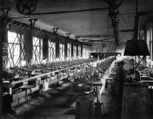 Eberle Geschichte Werkshalle